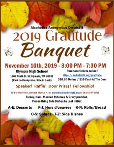 2019 Gratitude Banquet